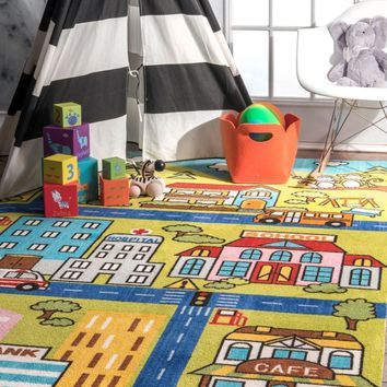 nuLOOM Zenaida Neighborhood Printed Playtime Area Rug