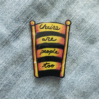 Trippy Quote Hat Pin