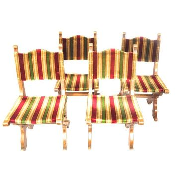 Pre-owned Antique Gothic Dining Chairs Circa 1900 - Set of 4