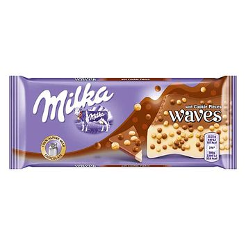 Milka Waves with Cookie Pieces 2.8 oz. (81g)