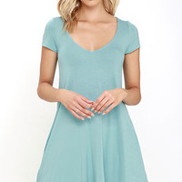 All a Dream Robin's Egg Blue Swing Dress