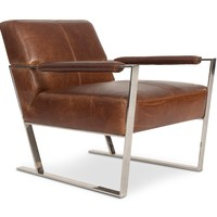 Darby Leather Chair COGNAC