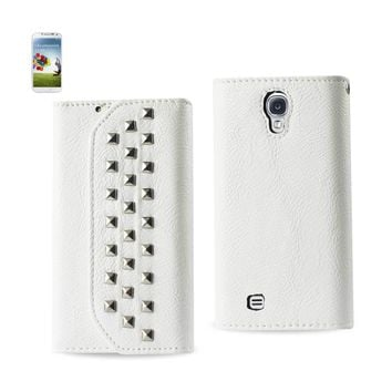 New Studs Wallet Case In White For Samsung Galaxy S4 By Reiko