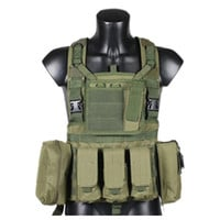 Tactical Vest CS Airsoft Hunting Special Combat Holster Pouch   army green