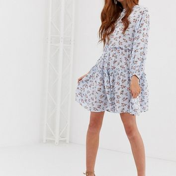 Stradivarius STR ditsy print smock dress | ASOS