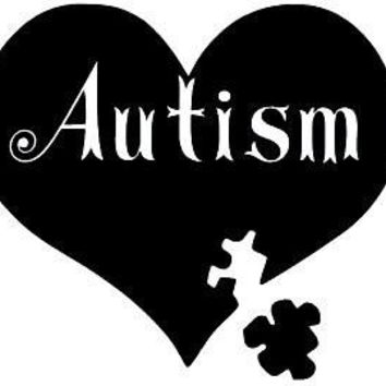 Autism Laptop Vinyl Car Decal