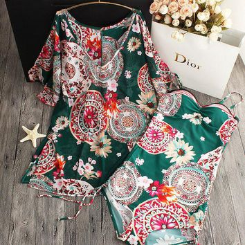 DCCKF4S 2017 summer style Womens Floral One Piece Swimsuit Swimwear Padded Monokini women Cover Up Bathing Suits Swimsuits