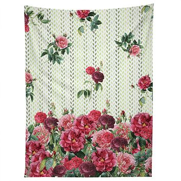 Belle13 Vintage Rose Pattern Tapestry