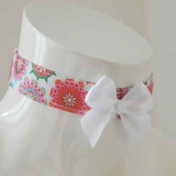 Kittenplay day collar - Oriental scent - ddlg princess cute kawaii lolita costume - white kitten petplay adult pet play choker