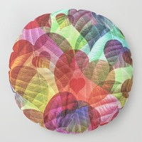 Heart Shaped Leaves Floor Pillow by inspiredimages