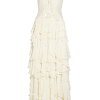 Matthew Williamson | Embellished cutout silk-chiffon gown | NET-A-PORTER.COM