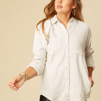 Altar'd State Kaitlyn Flannel Top - Long Sleeve - Tops - Apparel