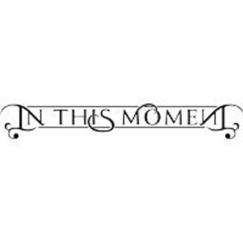 IN THIS MOMENT BAND WHITE LOGO DECAL STICKER