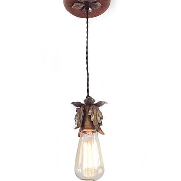 Shop rustic light fixtures on wanelo hanging pendant light with edison bulb shabby chic lighting mozeypictures Choice Image