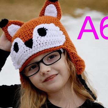 free shipping, 10pcs/lot Toddler Baby Ape owl / aviator / Reindeer / Batman / bear Hat Beanie Crochet 100% Handmade fox hat Caps