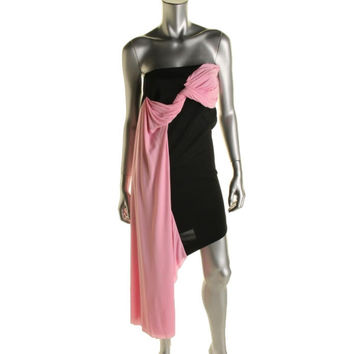 Josh Goot Womens Organza Pleated Cocktail Dress