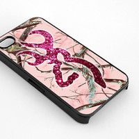 Browning Deer Glitter Pink for iphone 4/4s case, iphone 5/5s/5c case, samsung s3/s4 case cover