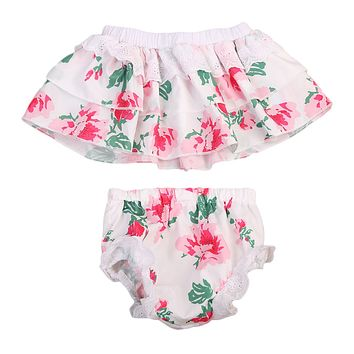 2PCS Newborn Baby Girls Clothing Set Baby Girls Floral Sleeveless Strapless Top+Pants Sun-suit Outfits Clothes Set