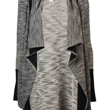 Bar III Women's Long Sleeve Slub-knit Cardigan Sweater