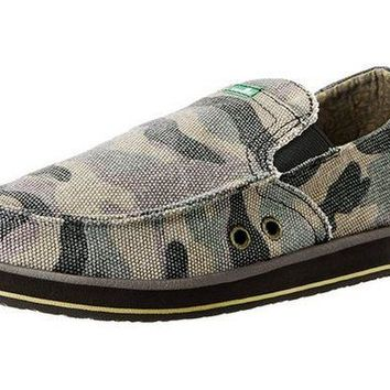 ONETOW Sanuk Pick Pocket Camo Sidewalk Surfer Shoes