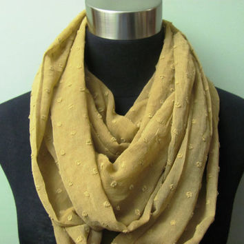 Mustard Brown Infinity Scarf