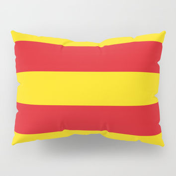 senyera catalunya-catalunya,cataluna,catalonha,espanya,iberica,Barcelona Pillow Sham by oldking