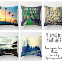 PILLOWS NOW AVAILABLE! FREE SHIPPING THROUGH MONDAY!  by Tara Yarte  | Society6