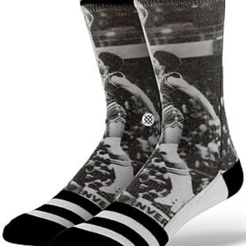 The NBA Legends Julius Erving Socks in Black & White