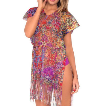 Luxury Cover Up with Fringe
