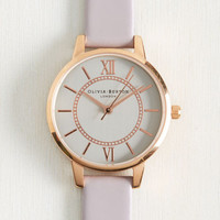 Head of the Classic Watch in Lilac & Silver   Mod Retro Vintage Watches   ModCloth.com