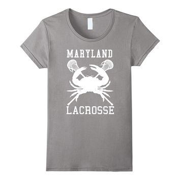 Maryland Lacrosse Blue Crab Lax Sticks Tee