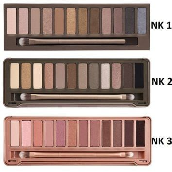 Onlylove 3pc/set Nk 1 2 3 Eyeshadow Nake 12 Colors Palette Eye Shadow Urban Nude Makeup Brush