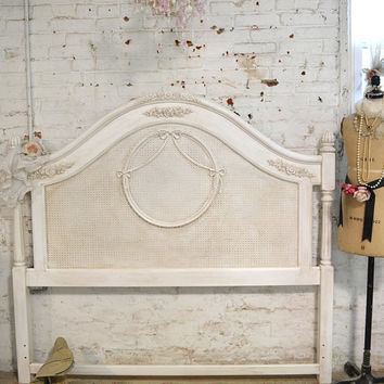 Painted Cottage Shabby tea-stained Romantic Headboard BD08