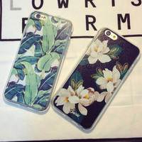 Retro Leaf Floral Case Cover for iPhone 5s 6 6s Plus Gift 249