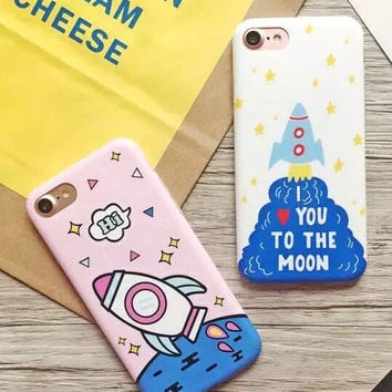 Rocket Print iPhone 7 se 5s 6 6s Plus Case Cover + Nice Gift Box