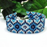 Cuff Bracelet - Beaded Bracelet - Gifts For Her - Womens Cuff Bracelet - Hand Made Jewelry - Gift Ideas