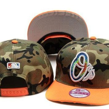 VONEEJ Baltimore Orioles Mlb Cap Snapback Hat - Ready Stock