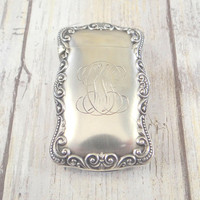 Anitque Sterling Silver Match Safe with Gold Wash Interior, Vesta Case