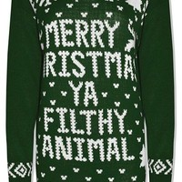 Style Fashion-womens ''Merry Christmas Ya Filthy Animal'' Reindeer