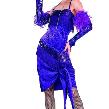 Fabulous Purple Flapper Costume, Roaring 20's