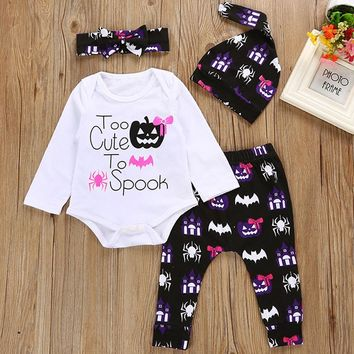Halloween Costumes Baby Girl Clothes Sets 100% Cotton Newborn