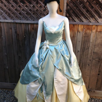 Custom Princess Tiana (D) Frog Princess Adult Costume