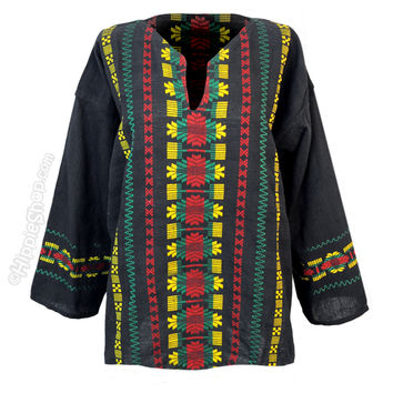 Rasta Guatemalan Hippie Shirt on Sale for $19.95 at HippieShop.com
