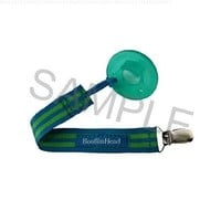 BooginHead Pacifier Holder, Blue Green Stripe