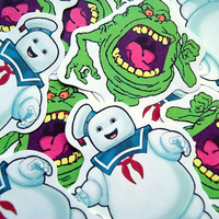 Ghostbusters sticker pack slimer & marshmallow man by PKPaperKitty