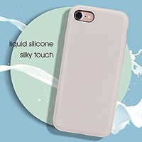 """iPhone 8 Case, iPhone 7 Case, MILPROX Pretty Series Liquid Silicone Gel Rubber Matte Case with Soft Microfiber Cloth Cushion, 4.7"""" iPhone 8 silicone cases, iPhone 7 silicone cases - Light Purple"""
