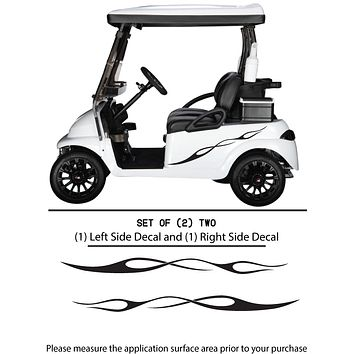 Golf Cart Vinyl Graphic Decals, Set of (2) TWO - STYLE F097
