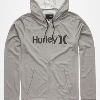 Hurley Dri-Fit Lake Street Mens Hoodie Heather Grey  In Sizes