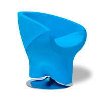 Turquoise Pod Diamond Chair