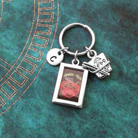 Chinese Food Keychain VERY SMALL Neon Sign Keychain Personalized Keychain Fast Food Keychain Asian Keychain Chinese Gift Takeout Gift